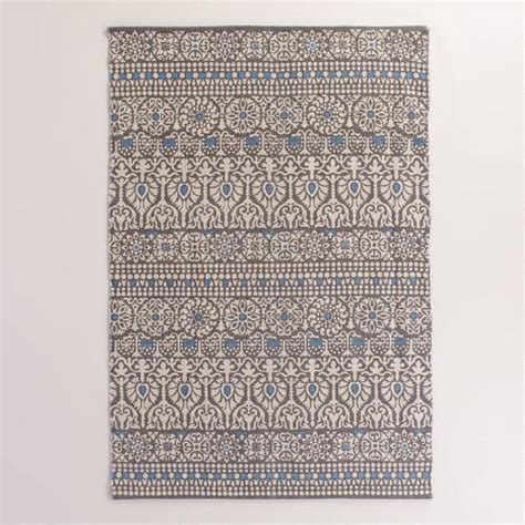 Outdoor Rugs World Market 4 X6 Floral And Gray Striped Indoor Outdoor Rug World Market