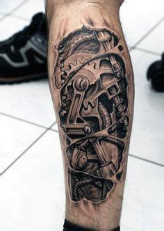 biomechanical wrench tattoo mechanical forearm with cogs best tattoo ideas designs