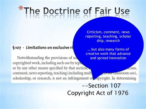 copyright act 1976 section 107 week six summer hum 140 copyright fair use and you