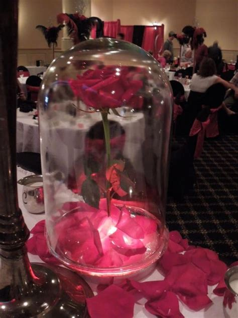 and the beast inspired centerpiece pic wedding
