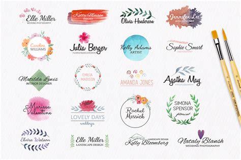 Watercolor Logo Templates 20 Premade L Design Bundles Watercolor Logo Template
