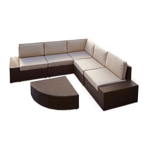 Best Selling Home Decor Santa Cruz Outdoor Sectional Sofa