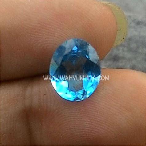 Topaz Biru batu permata blue topas kode 329 wahyu mulia