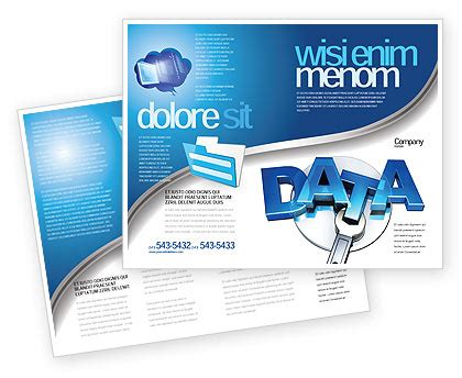 Data Safety Brochure Template Design And Layout Download Now 05887 Poweredtemplate Com Safety Brochure Template Free