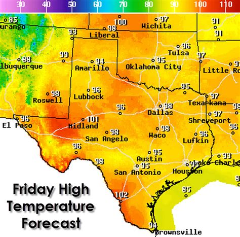 texas temp map july 17 2015 texas weather roundup forecast texas chasers