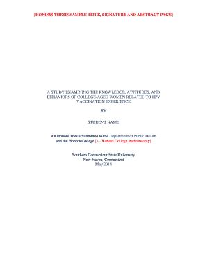 honors thesis abstract sle abstract for thesis forms and templates fillable