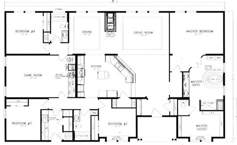good home layout design 40x60 barndominium floor plans google search house