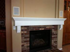 custom painted fireplace mantle by custom woodworks