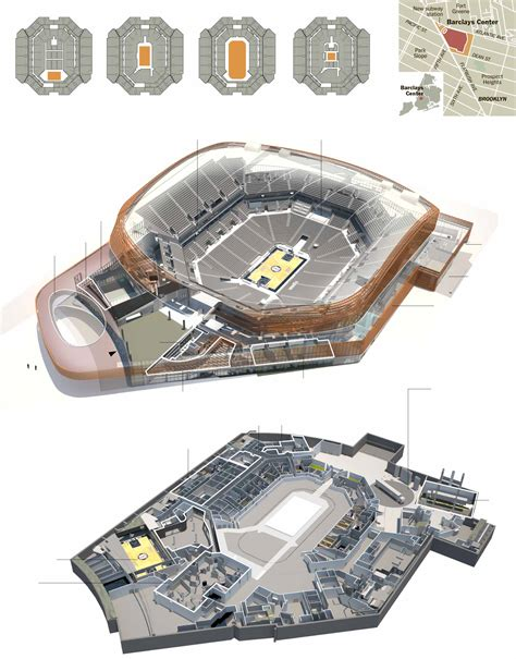 barclay center floor plan barclays center an arena with many faces graphic