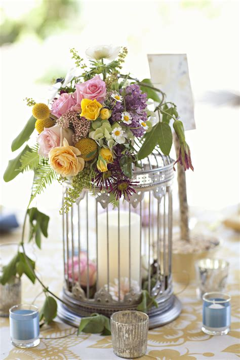 birdcage floral centerpiece birdcage centerpieces