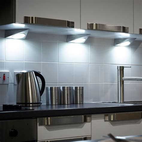 triangular under cabinet kitchen lights gx53 led triangle under cabinet spotlight modern under