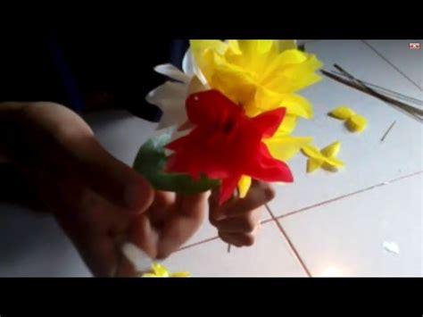 youtube membuat vas bunga cara membuat bunga dari plastik youtube