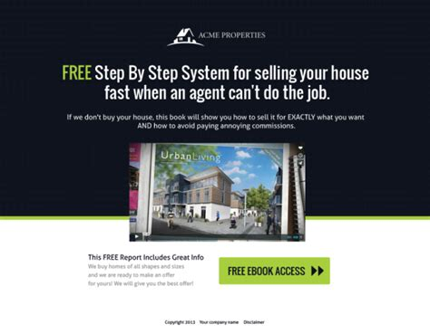 squeeze page template real estate website templates