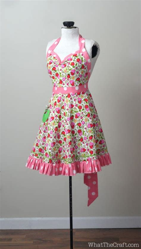sewing vintage apron vintage style apron printable pdf pattern whatthecraft