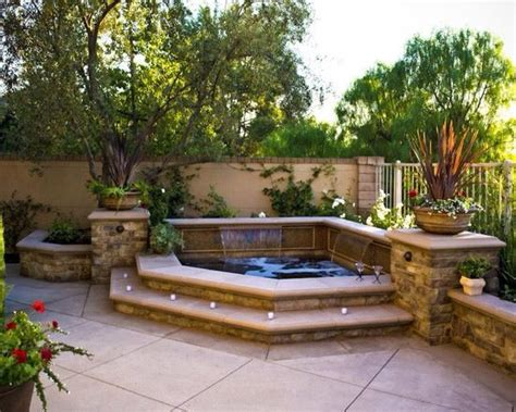 small backyard designs with hot tubs hot tub or small pool idea above ground with built in