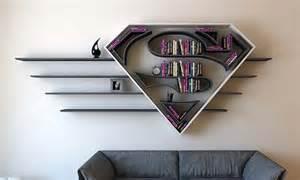 batman regal the concept bookshelf inspired by superman s logo gadgetsin