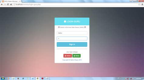 membuat web nilai online sistem informasi nilai siswa sinis berbasis web dengan