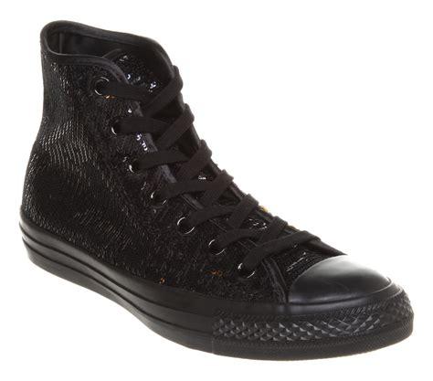 black sequin converse sneakers converse chuck all black gold sequin trainer
