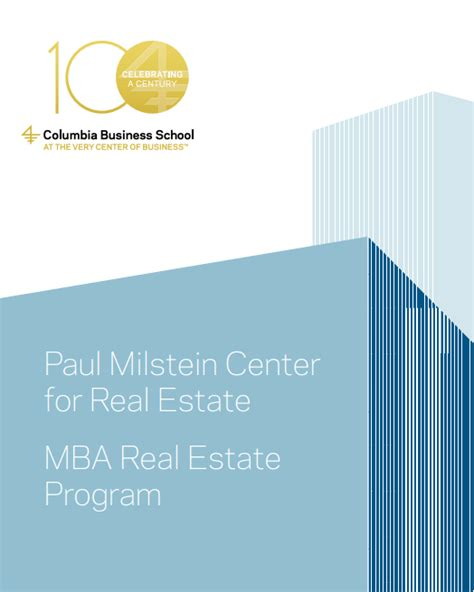 Director Psu Mba Real Estate Studies Program get involved paul milstein center for real estate