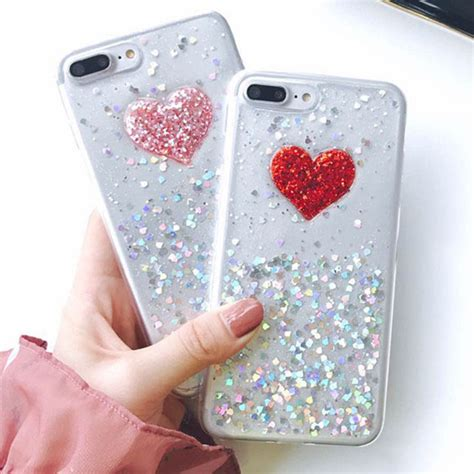 Sparkling Glitter Blink Iphone 6 6s 6 6s Soft Tpu Purple 3d diy bling sparkle glitter powder for iphone 7 6 6s plus fundas clear