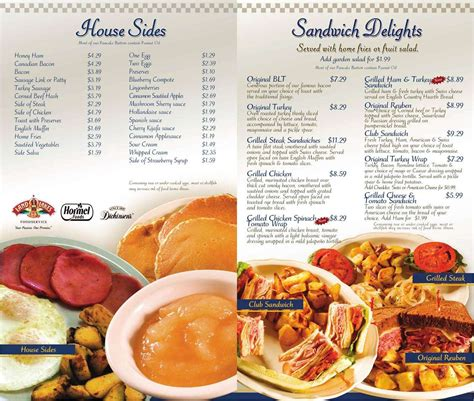 menu at original pancake house restaurant royal palm