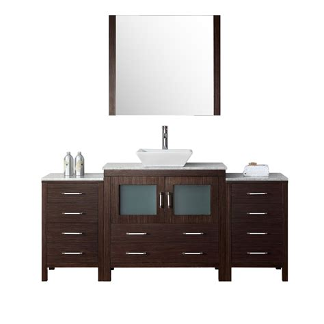 virtu bathroom vanity virtu dior 66 quot single bathroom vanity set with mirror