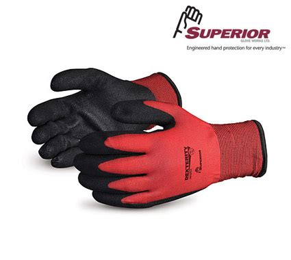 fleece lined rubber work gloves mennon rubber safety products superior winter