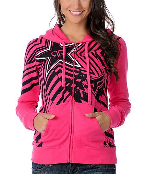 Hoodie Zipper Rockstar Zemba Clothing Fox X Rockstar Spike Vortex Pink Zip Up Hoodie At Zumiez Pdp