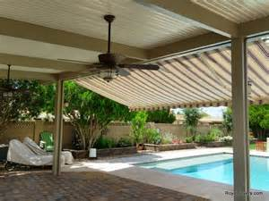 Mesa Awnings Freestanding Alumawood Patio Cover With Retractable Awning