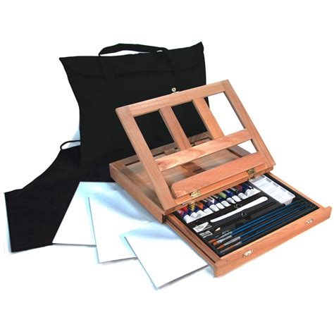 acrylic painting easel set acrylic painting easel set 27pc royal langnickel