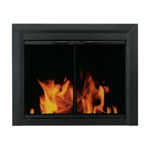 home depot fireplace doors pleasant hearth carlisle small black cabinet style glass
