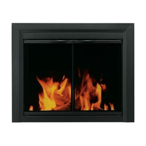 Fireplace Der Cl Home Depot pleasant hearth carlisle small black cabinet style glass