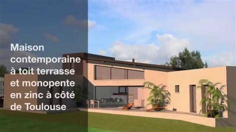 Constructeur Maison Contemporaine Toulouse 3843 by Maison Contemporaine Toit Terrasse Et Monopente Zinc 2