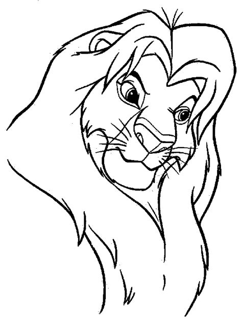 africa safari lion coloring page lion safari cartoon