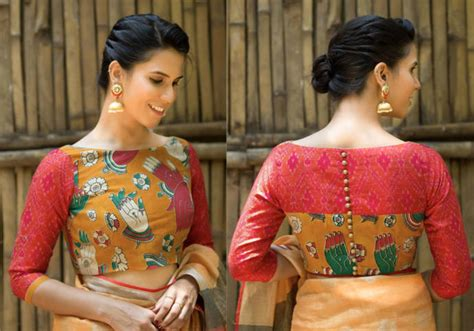 Simple Blouse Neck Designs For Daily Wear Sarees