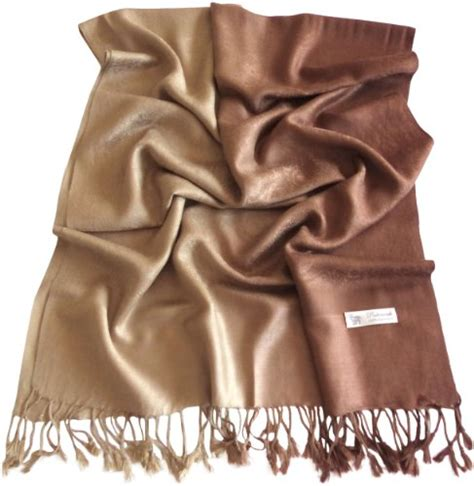 Pashmina Premium Silk Ronaldo Two Tone beautiful patterned pashmina scarves and wraps