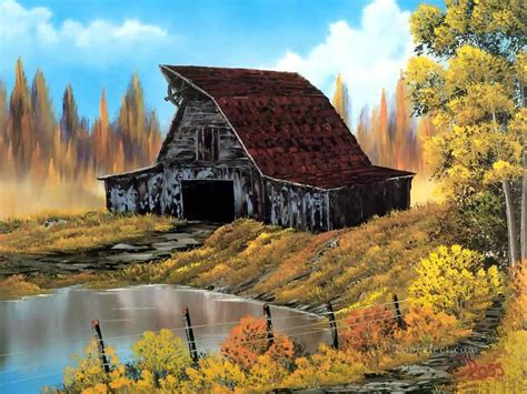 bob ross paintings and names rustic barn style of bob ross painting in for sale