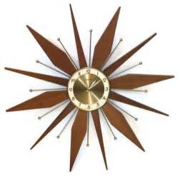 Vintage starburst wall clock by retro classics eclectic wall
