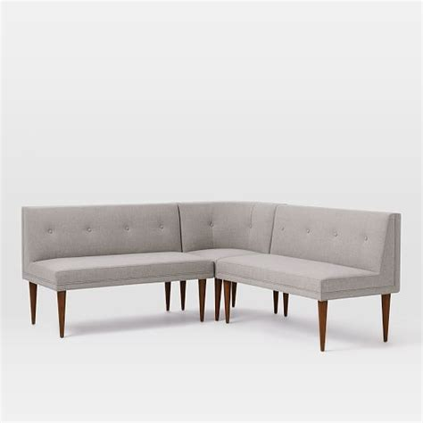 dining benches and banquettes build your own mid century banquette west elm