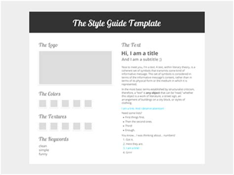 Style Guide Template Word by The Style Guide Template By Erick Mazer Dribbble