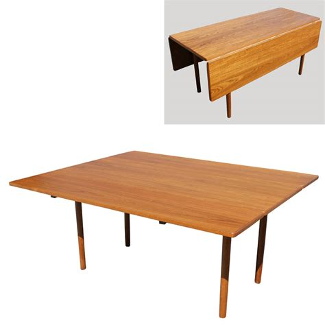 modern dining table danish mid century modern drop leaf dining table ebay