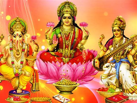 ganesh lakshmi  saraswati hd wallpaper  pc tablet