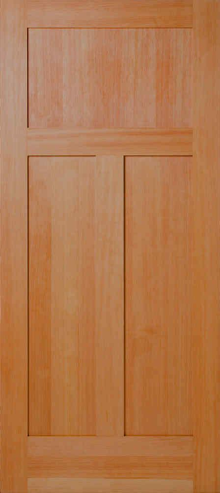 Douglas Fir Interior Doors Vertical Grain Douglas Fir Mission 3 Panel Flat Panel Interior Wood Doors Homestead Doors