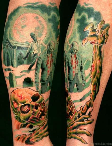 zombie tattoo design 51 horror tattoos for leg