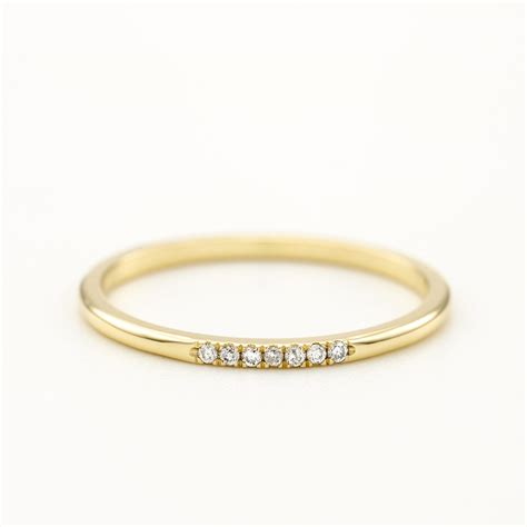 wedding ring thin wedding band gold wedding