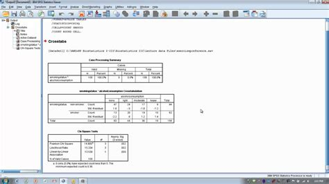 how to use spss chi square test for independence or crosstabulation 2x4