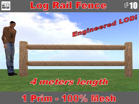 4 meters to second marketplace log rail fence 4 meters