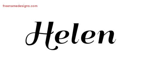 tattoo name helen helen archives free name designs