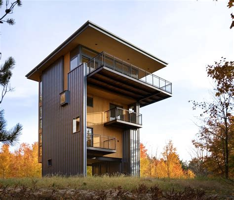 Home Design 4 Storey House Reaches Above The Forest To See The Lake
