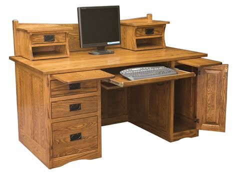 mission desk mission computer desk 001 amish direct furniture
